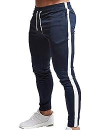 Huateng Pantalones de chándal Hombres Fitness Culturismo Gimnasios  Pantalones para Corredores Pantalones Deportivos 8485577ff80