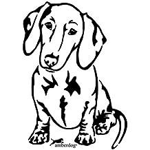 amberdog Spanischer Wasserhund Fensterfolie Art.Nr.AT0221 Auto Aufkleber Wohnmobil Wohnwagen 20x15cm, schwarz