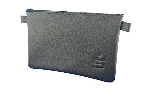 5 x Banktasche im Set mit S-Prägung (rechts unten), schwarz, 27 x 17 cm