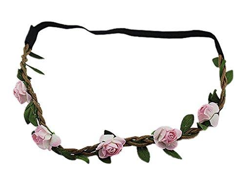 BONAMART 10 x Festival Hippie Geflochten Haarband Blumen Blätter Stirnband für Damen Mädchen