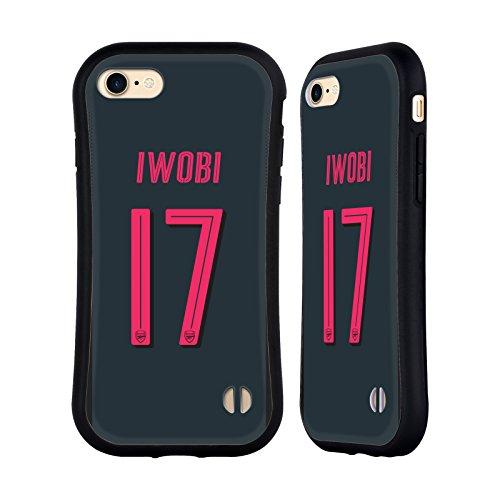 Ufficiale Arsenal FC Alex Iwobi 2017/18 Giocatori Kit Third Gruppo 1 Case Ibrida per Apple iPhone 6 Plus / 6s Plus Alex Iwobi