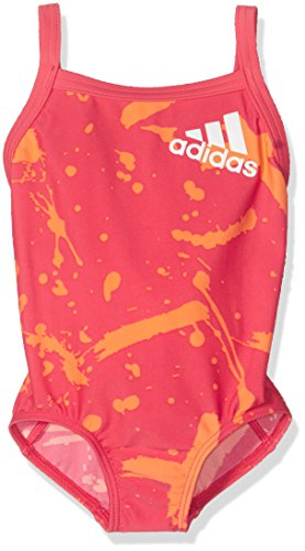 Adidas Infants 1pc Bañador, Niñas, Rosa Rosbas/Blanco, 74