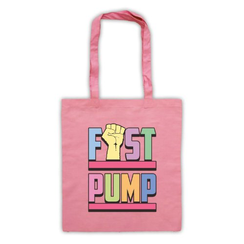 Fist pompa Slogan Tote Bag Rosa
