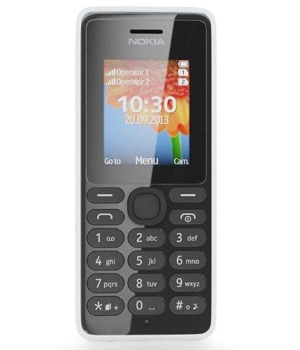 Nokia 108 - M  vil libre  pantalla 1 8   c  mara 0 3 Mp  4 MB RAM   blanco  importado