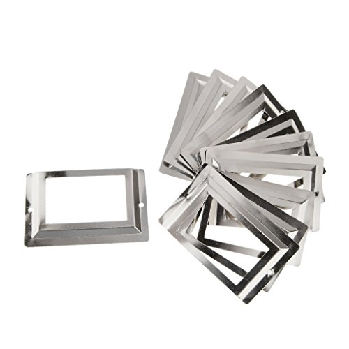 Homyl 10er-Set Etikettenrahmen Möbelgriff Muschelgriff Antik Retro Schublade Label Halter - Silber