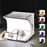 PULUZ Kit de Studio Photo Portable 24 x 23 x 22 cm Boîte de Lumière Pliable LED...