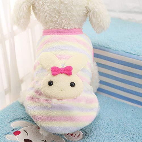 laonBonnie Winter Flanell niedlich Muster Hund Katze Pullover kleine Welpen Haustier Kleidung Katze Mantel