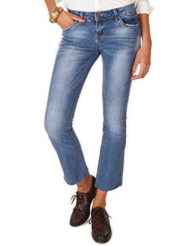 62nd Avenue Cropped Damenjeans Kick Flare Jeans Used Mittelblau 6221 M / 38 (Avenue Jeans Denim)