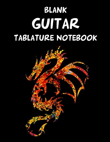 Blank Guitar Tablature Notebook -