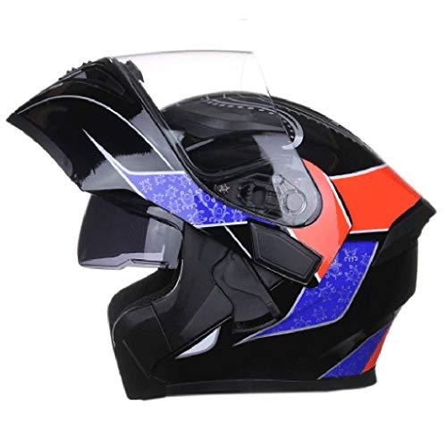 KT Caschi da Moto Mezze Caschi for Motocicli Casco Moto Casco para Motos Casco Leggero Casco di Protezione Dell'orecchio del Motociclo Casco da Trek (Size : L)