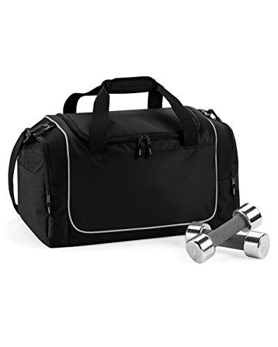 Quadra Teamwear Schlißfachtasche Schwarz / Silber