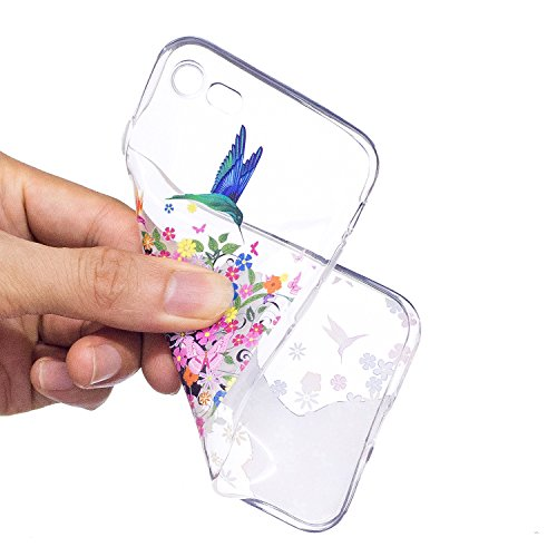 Custodia iphone 7 / iphone 8, Cover iphone 7 / iphone 8, Cozy Hut [Clear Ultra Sottile Silicone Gel] Liquid Crystal **Estremamente Sottile & Puro Trasparente** Premium TPU silicone case Custodia Cover Ragazza di fiore