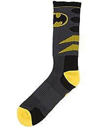 DC Comics Batman Logo Mens Grey Crew Socks