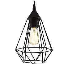 EGLO Pendant Lamp, Steel, 60 W, Black