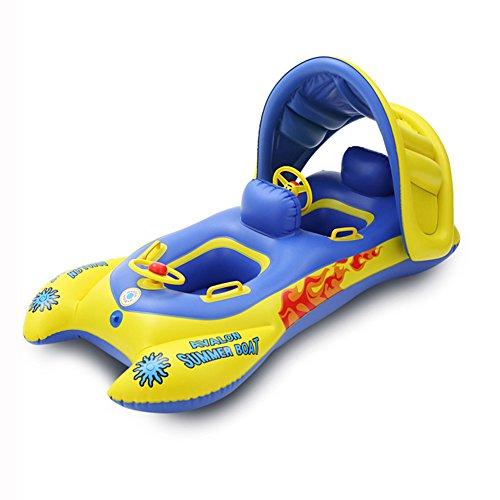 L&Zr Schwimmen Float Doppelschwimmring Aufblasbare Baby Pool Floatation Spielzeug mit Abnehmbare Sonnensegel Für Alter Mehr als 6 Monate Old-5 Alt (Schwimmer Rumpf)