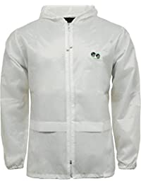 Bowls white cagoule unlined showerproof adults kagool S M L XL XXL Shower proof Jacket