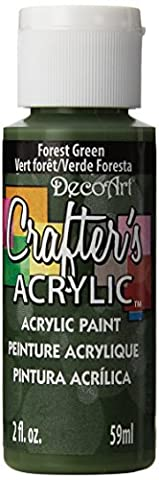 DecoArt 59 ml Crafters Acrylic, Forest Green