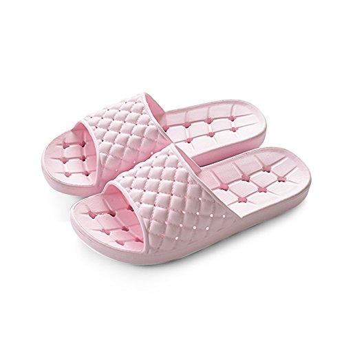 Zapatillas de casa Verano antideslizante zapatillas de baño Sweet hogar zapatillas Par fresco zapatillas Interior cuarto de baño minimalista con zapatillas 235 yardas (35-37) cómodo ( Color : A )