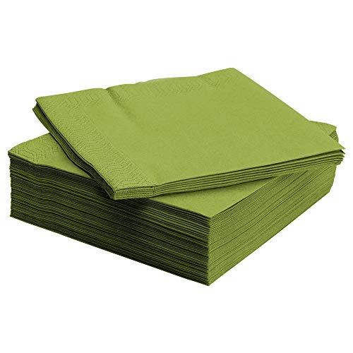 IKEA FANTASTISK - Paper napkin, medium green / 50 pack - 24x24 cm