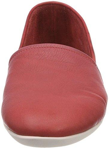 Softinos Ladies Olu382sof Lavato Chiuso Ballerinas Rosso (rosso)