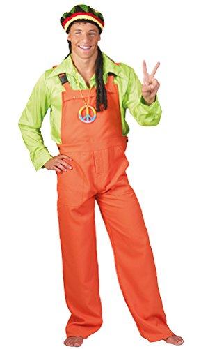 Kostüm Latzhose orange Hippie Clown Latz-Hose orangene Arbeitshose Bauarbeiter Gärtnerhose Herren-Kostüm Damen-Kostüm Karneval Fasching Größe 44/46 (Ideen Für Halloween Kostüm Für Die Arbeit)