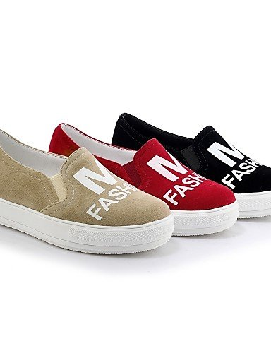 ZQ gyht Scarpe Donna-Mocassini-Casual-Punta arrotondata-Piatto-Felpato-Nero / Rosso / Beige , black-us8.5 / eu39 / uk6.5 / cn40 , black-us8.5 / eu39 / uk6.5 / cn40 black-us7.5 / eu38 / uk5.5 / cn38