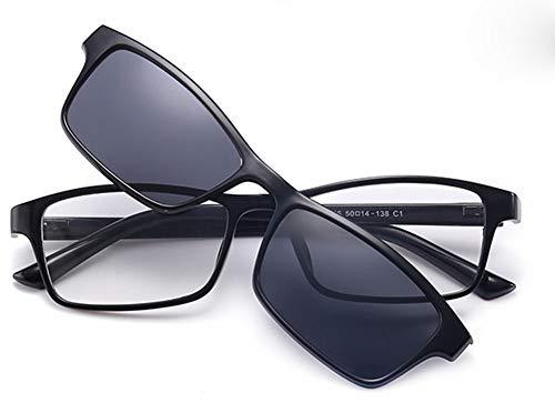 Spiegel Großhandel kurzsichtige polarisierte Sonnenbrille Doppel-ausziehbaren Magneten Hellen Clip TR90 Brille, 1 ()
