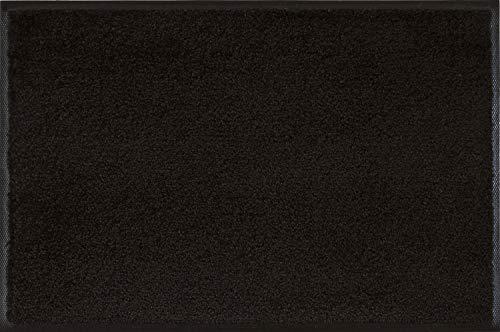 wash+dry Fußmatte Schwarz 60x90 cm Schwarz 90