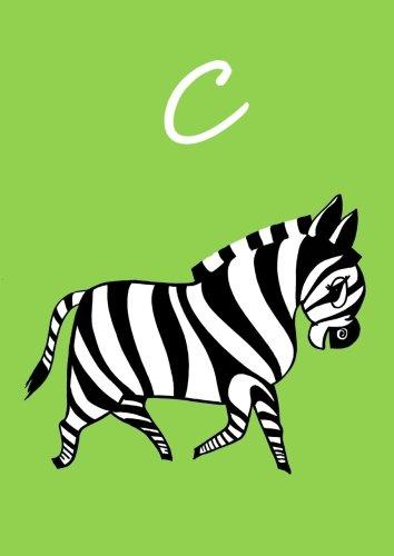 Malbuch / Notizbuch / Tagebuch - C: DIN A4 - blanko - Zebra
