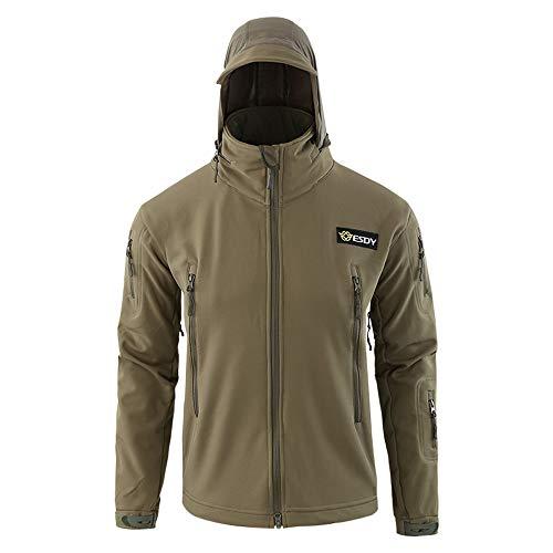 Odjoy-fan-uomo velluto cappotti antivento e impermeabile tuta all'aperto per alpinismo uomo giacca softshell tattico vento outdoor trekking cappuccio jacket giacca foderato di pile incappucciato