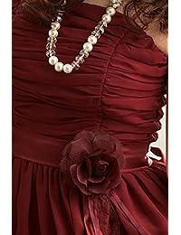 JK2 - Robe de cocktail mousseline avec fleur à la taille