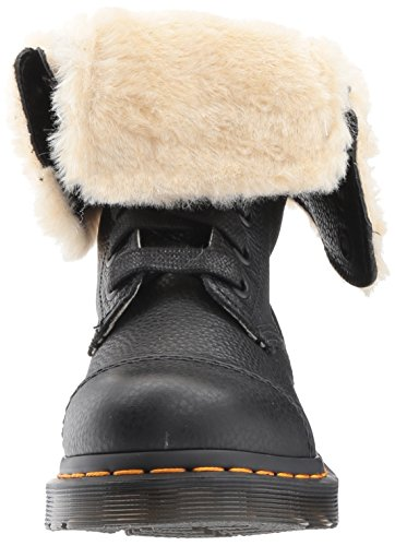 Dr.Martens Womens Aimilita 9-Eyelet Fur Lined Leather Boots Noir