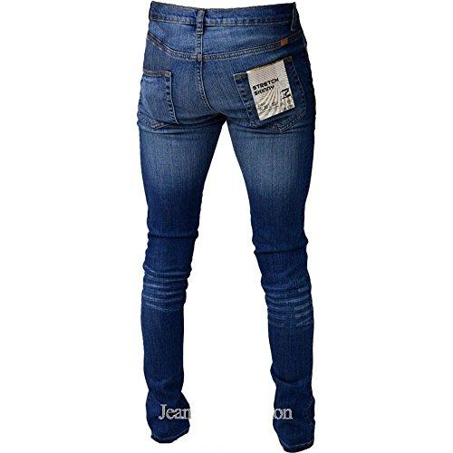 Zico Designer Superdünnes Bein Strecken Vintage Stonewashed Jeans Vintage Stonewash