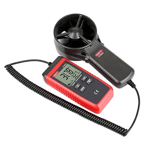 Estaciones meteorológicas portátiles Medidor de anemómetro digital multiusos Medidor de velocidad...