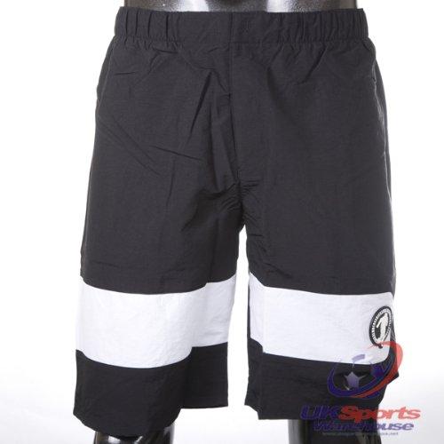 dirk-bikkembergs-100-authentic-designer-print-panel-black-woven-shorts-rrp120
