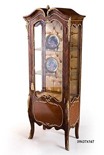 LouisXV Barock Vitrine Rokoko Antik Stil Schrank Louis XV MoVi0862 antik Stil Massivholz....