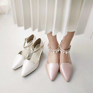 LYNXL Talloni delle donne Primavera Estate tacco Altro similpelle Dress grosso Altri Rosa Bianco Beige Beige