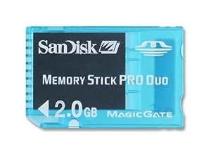SanDisk PSP 2 Go Carte mémoire MemoryStick pour Sony PSP SDMSG-002G-B46