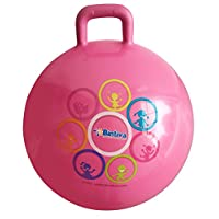 bintiva Hippity Hop 45 Cm Including Free Foot Pump, For Children Ages 3-6 Space Hopper, Hop Ball Bouncing Toy 1 Ball Pink