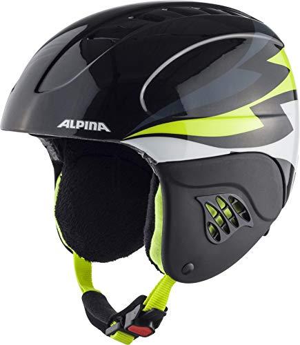 Alpina Casque de Ski et de Snowboard Charcoal-Neon Jaune Fluo 51-55 cm