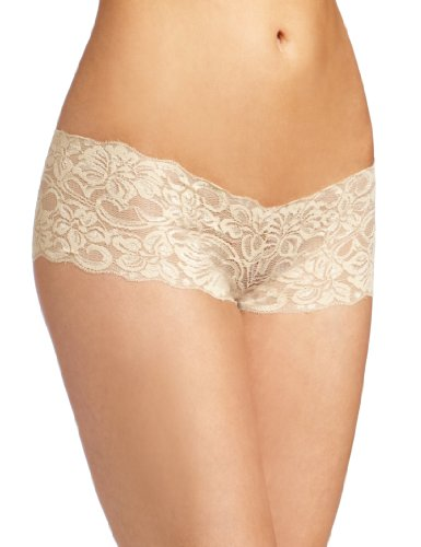 Baci Women's Lace Boyshort, Gold, Small (Lace Boyshort-tanga)
