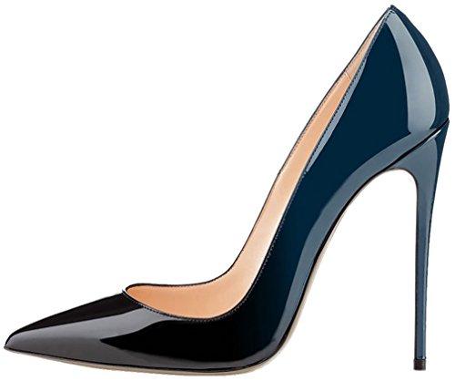 Calaier Donna Cause 12CM Tacco A Spillo Scivolare su Scarpe col Tacco Calzature, Multicolore D, 34