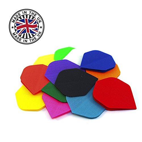 "Hochwertige Nylon Stoff Dart Flights Flys Standard - inkl. 1 Satz British Dart Flights - Farbe & Menge frei wählbar - Qualitätsware \""Made in England\"" (Mix (farbig sortiert), 20 Sets (60 Stück))"