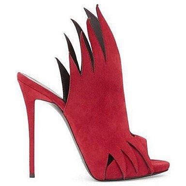 Donn dell estate sandali tacchi sandali Similpelle PU Outdoor Stiletto Heel altri Nero Rosso Altri US7.5 / EU38 / UK5.5 / CN38