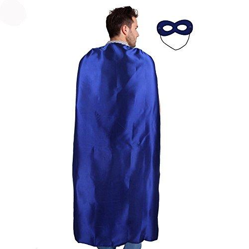 (Erwachsene Umhang Superhero Cape und Maske Kostüm Kostüme für Männer Frauen Verkleiden Party Favor)