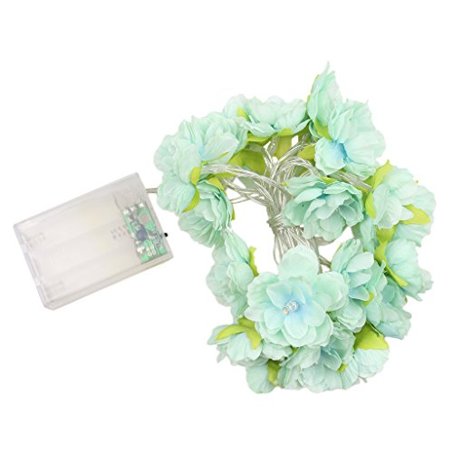 20-LED-grüne Blume-String-Licht-Party Streifenlampe Weihnachtsdekor Warmweiß (Bäume Weihnachten-mesh Für)
