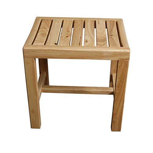 ZDXMZ Duschsitzbank aus Bambus mit Ablage - Badezimmerstuhl aus Holz  Spa-Stuhl for den Innen- oder Außenbereich (Size : A)