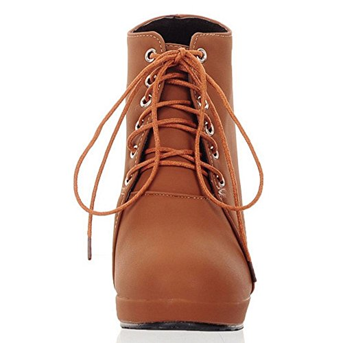 87ef9fc10a1f5 Courte Bottes Femmes Lace Coolcept Brown Up 2 0BqZnWA in chaussures ...