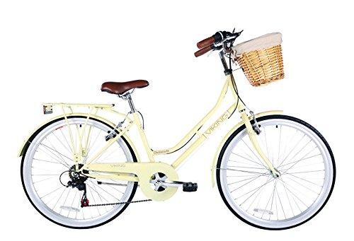 Viking Chatsworth 19″ Ladies 26″ Wheel Traditional 6 Speed Bike Beige