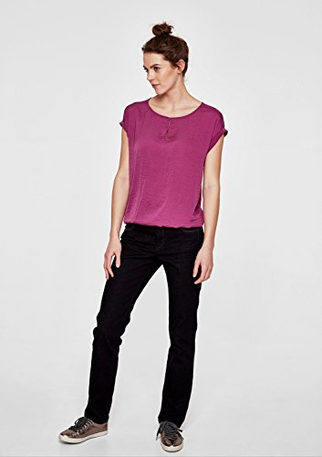 s.Oliver RED LABEL Damen Blusenshirt IM Fabric-Mix vivid magenta